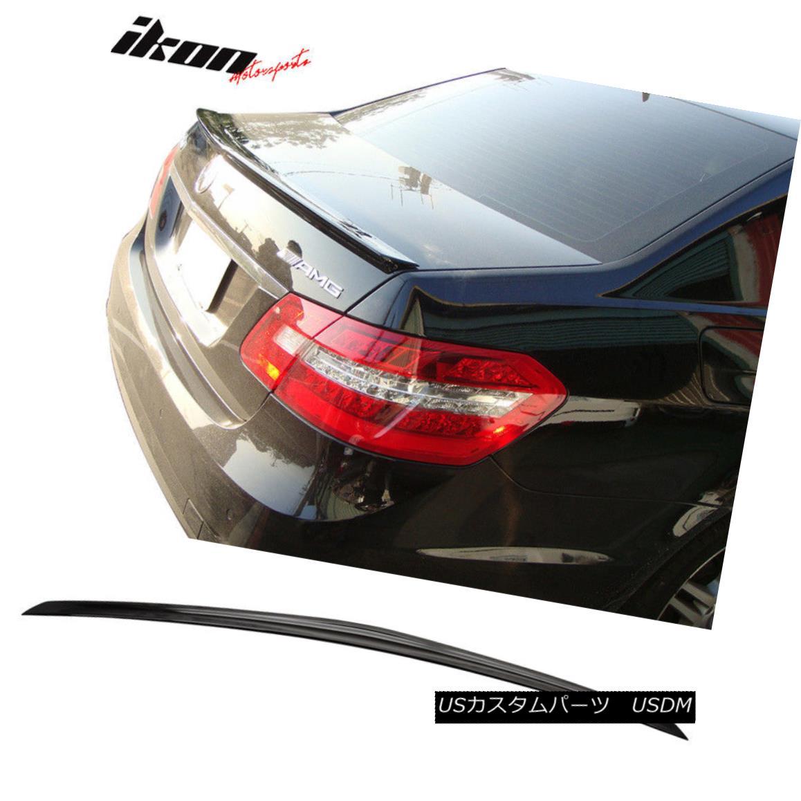 エアロパーツ Fits 10-16 E-Class W212 AMG Trunk Spoiler Painted #197 Obsidian Black Metallic フィット10-16 EクラスW212 AMGトランク・スポイラー・ペイント#197 Obsidian Black Metallic
