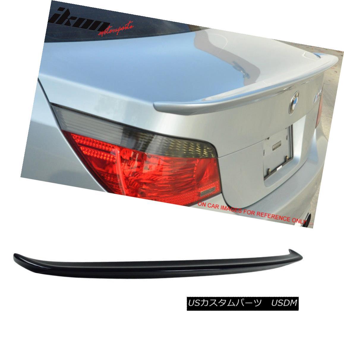 エアロパーツ Fit 04-10 5 Series E60 Sedan AC Trunk Spoiler Painted #416 Carbon Black Metallic フィット04-10 5シリーズE60セダンACトランク・スポイラー・ペイント#416カーボンブラック・メタリック