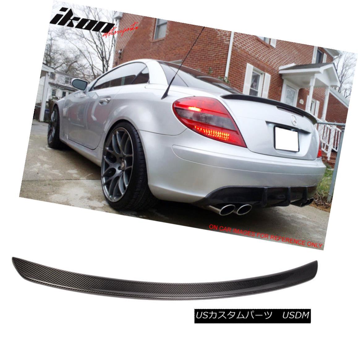 エアロパーツ Fits 05-10 Benz SLK-Class R171 AMG Carbon Fiber (CF) Trunk Spoiler Wing フィット05-10ベンツSLKクラスR171 AMG炭素繊維(CF)トランク・スポイラー・ウィング