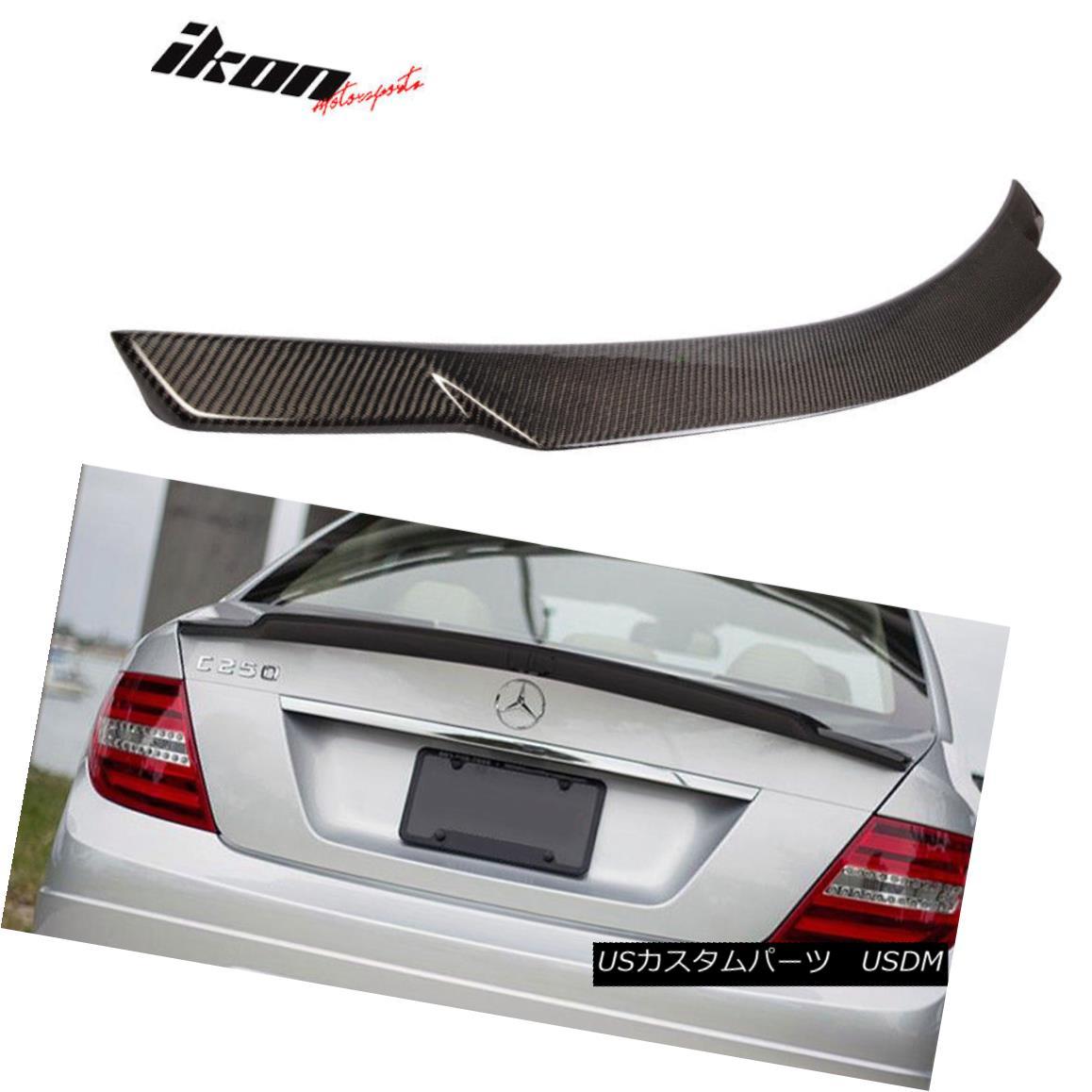 エアロパーツ Fits 08-14 Benz C-Class W204 Sedan V Type Trunk Spoiler Carbon Fiber (CF) フィット08-14ベンツCクラスW204セダンVタイプトランクスポイラー炭素繊維(CF)