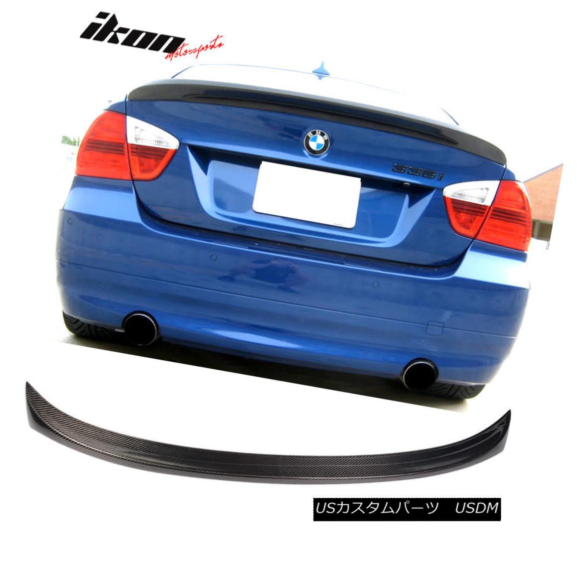 エアロパーツ Fits 05-11 BMW E90 3-Series Sedan M-Tech Msport Carbon Fiber (CF) Trunk Spoiler フィット05-11 BMW E90 3シリーズセダンM-Tech Msportカーボンファイバー(CF)トランク・スポイラー