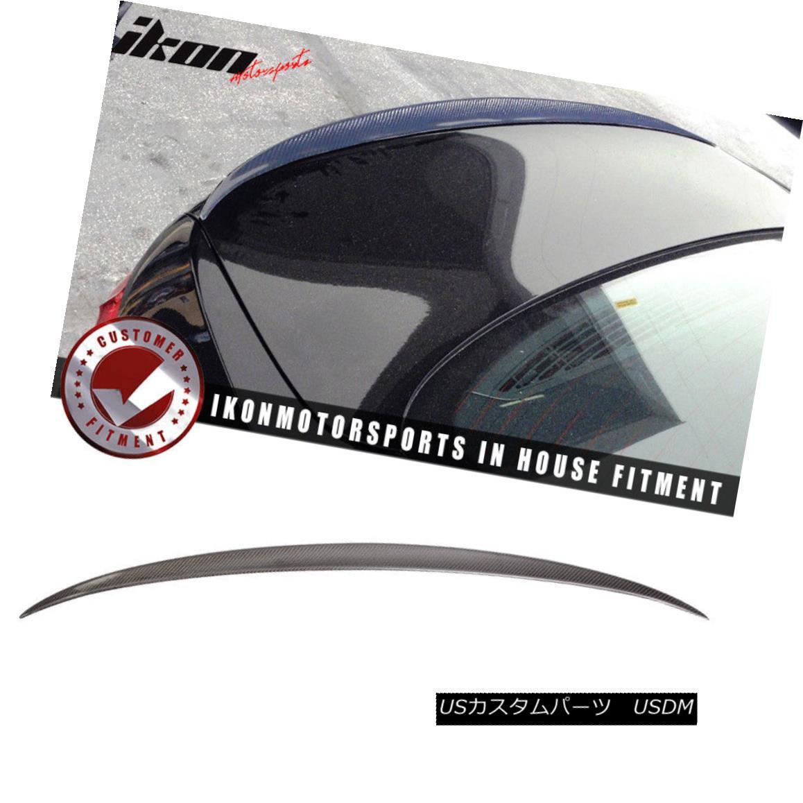 エアロパーツ Fits 11-16 BMW 5-Series F10 Sedan M5 Style Carbon Fiber (CF) Trunk Spoiler フィット11-16 BMW 5シリーズF10セダンM5スタイル炭素繊維(CF)トランク・スポイラー