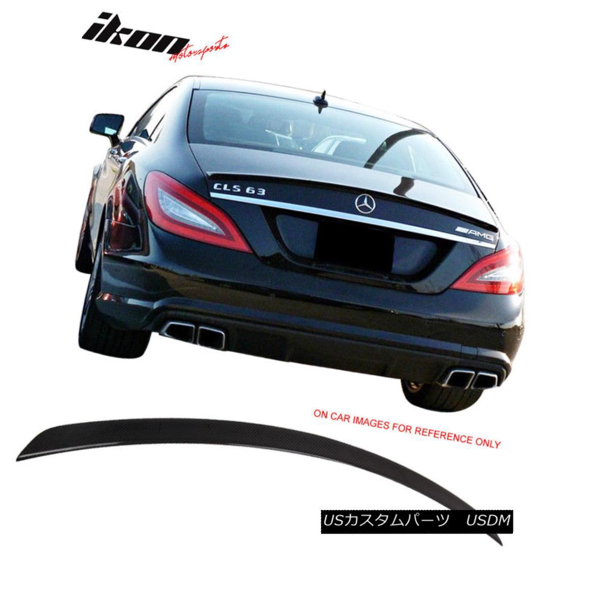 エアロパーツ Fits 11-17 Benz CLS Class W218 Sedan AMG Style Trunk Spoiler - Carbon Fiber (CF) フィット11-17ベンツCLSクラスW218セダンAMGスタイルトランクスポイラー - 炭素繊維(CF)