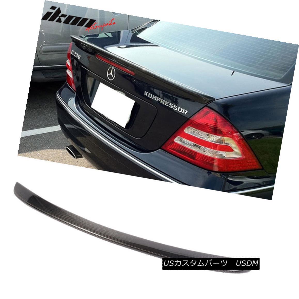 エアロパーツ Fits 01-07 Benz C-Class W203 AMG Style Trunk Spoiler - Carbon Fiber (CF) フィット01-07ベンツCクラスW203 AMGスタイルのトランク・スポイラー - 炭素繊維(CF)