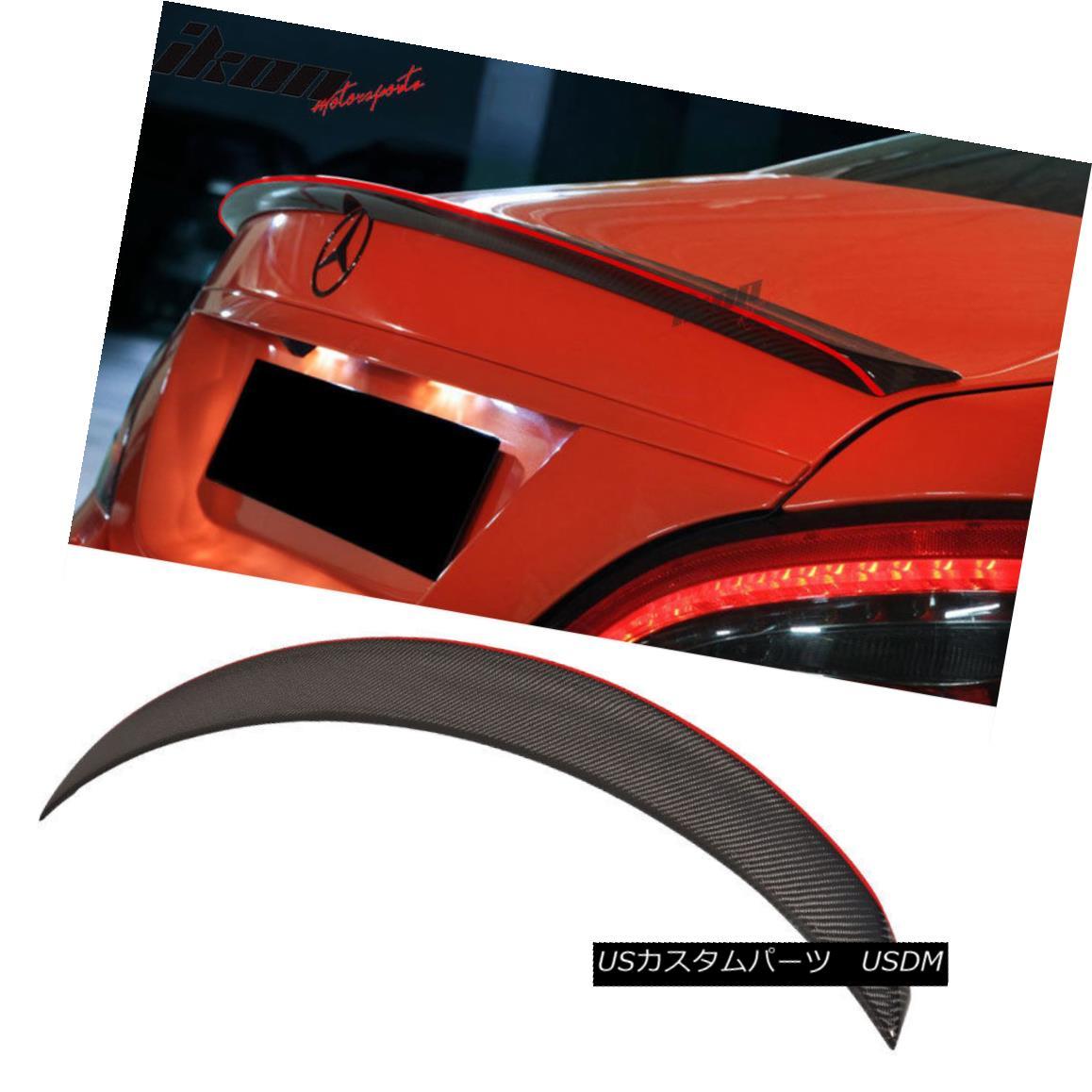 エアロパーツ 13-18 Benz CLA W117 4Dr Sedan P Style Carbon Fiber Red Line Trim Trunk Spoiler 13-18ベンツCLA W117 4DrセダンPスタイルカーボンファイバーレッドライントリムトランクスポイラー