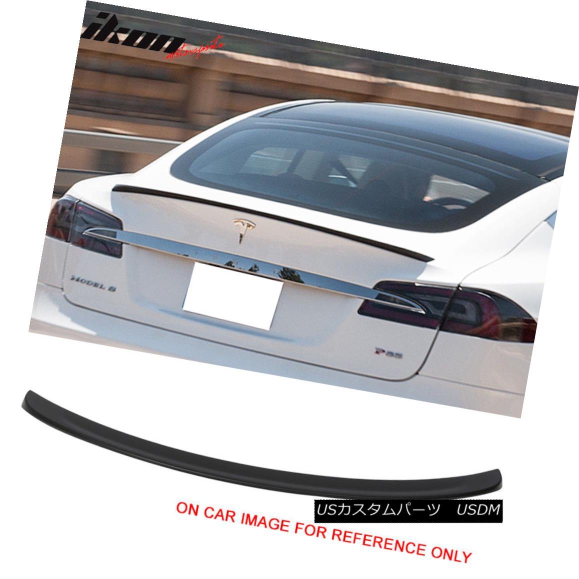エアロパーツ 12-17 Tesla Model S 4Dr Sedan Rear Trunk Spoiler Wing Unpainted ABS 12-17テスラモデルS 4Drセダンリアトランクスポイラーウイング無塗装ABS