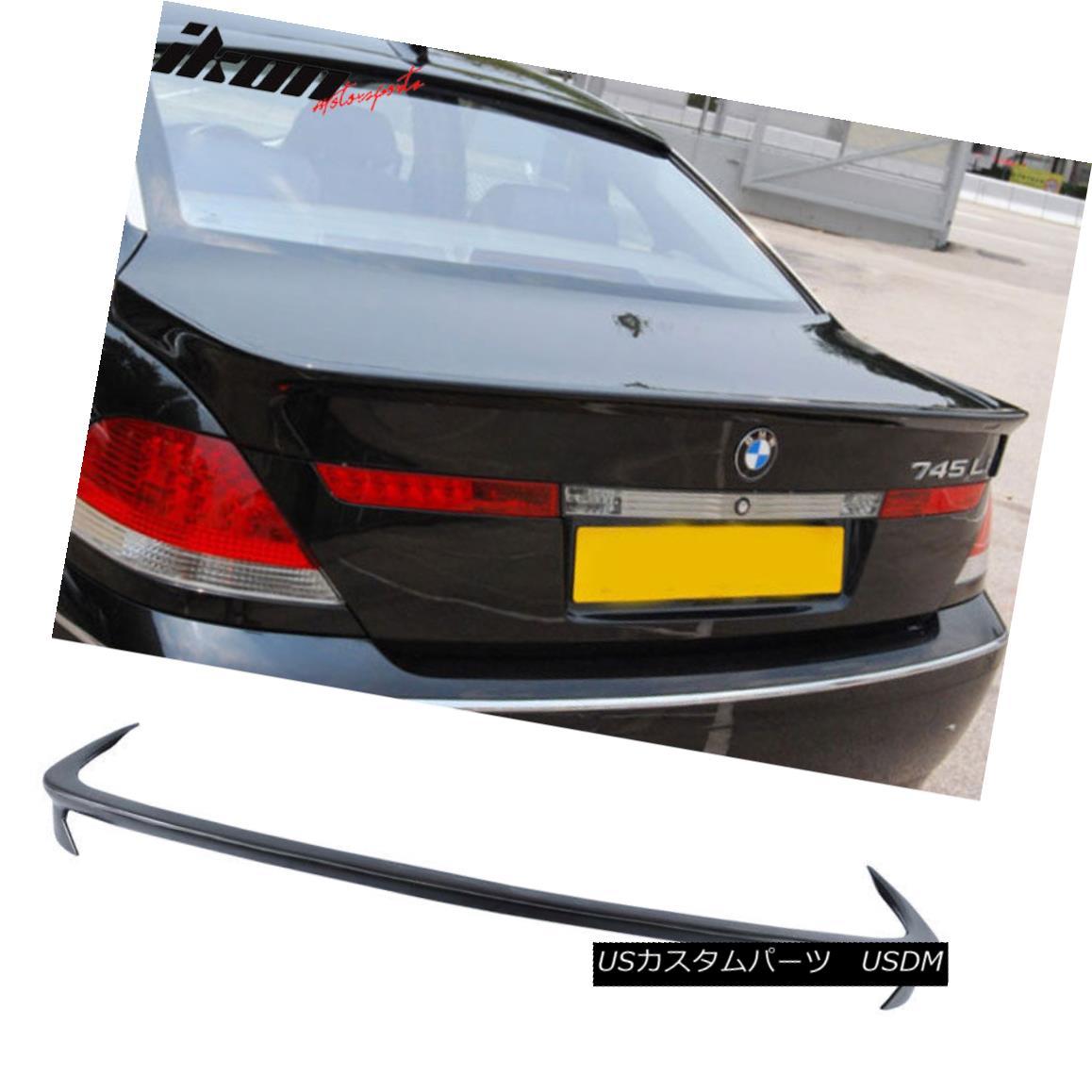エアロパーツ 02-05 BMW E65 7-Series AC-S Style Unpainted Trunk Spoiler - Urethane PU 02-05 BMW E65 7シリーズAC-Sスタイル無塗装トランク・スポイラー - ウレタンPU
