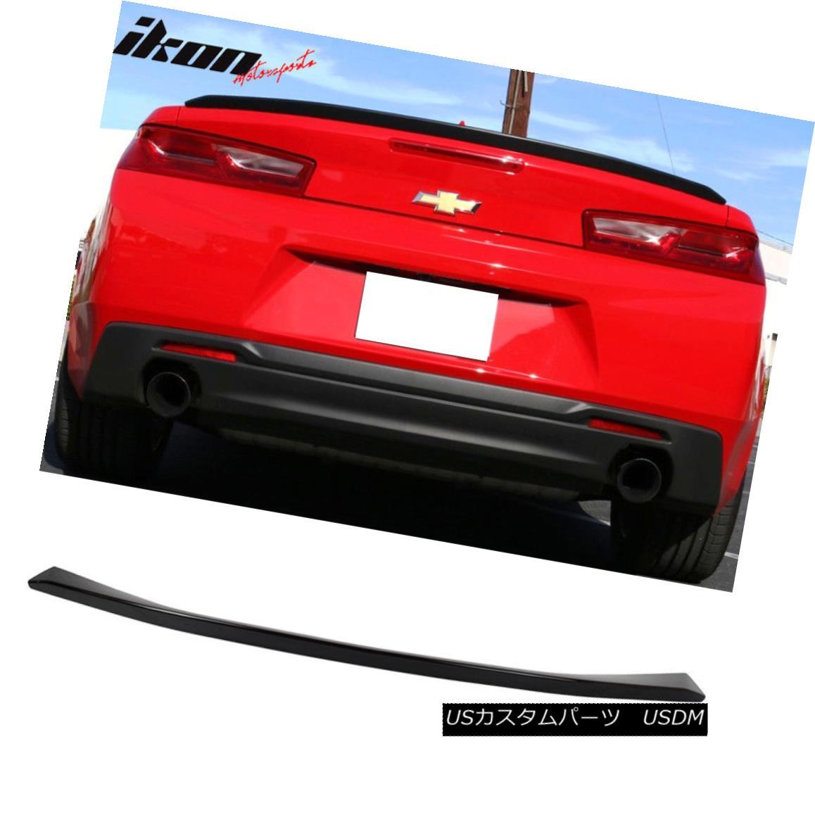 エアロパーツ 16-18 Chevy Camaro Factory RS Style V6 Trunk Spoiler Wing Painted #WA8555 Black 16-18シボレーカマロ工場RSスタイルV6トランクスポイラー翼塗装#WA8555ブラック