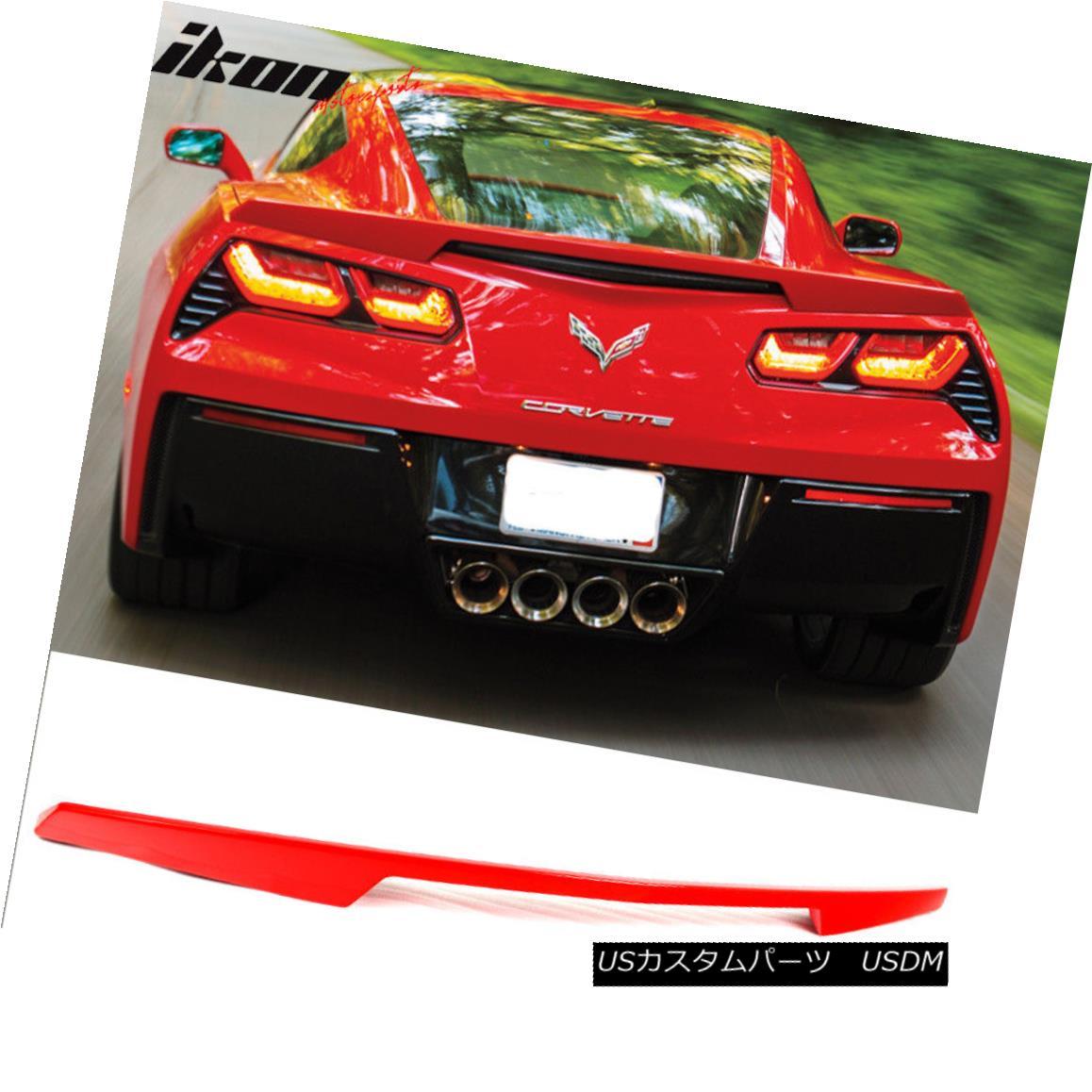 エアロパーツ Fit For 14-18 Chevy Corvette C7 ABS Trunk Spoiler Painted Torch Red # WA9075 14-18シボレーコルベットC7に合うABSトランクスポイラーペイントトーチレッド#WA9075