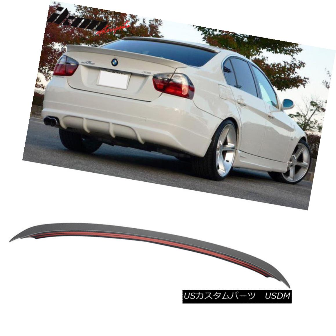 エアロパーツ Fits 06-11 BMW 3-Series E90 Sedan AC Style Unpainted ABS Trunk Spoiler Wing フィット06-11 BMW 3シリーズE90セダンACスタイル未塗装ABSトランクスポイラーウィング
