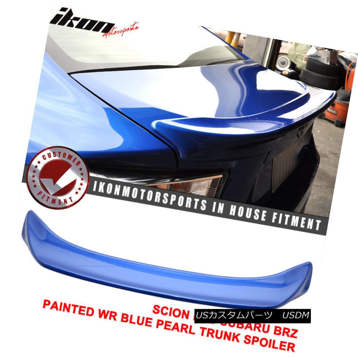 エアロパーツ Fit For 15-17 Subaru BRZ Trunk Spoiler ABS Painted Wr Blue Pearl TR #K7X 15-17スバル用BRZトランクスポイラーABS塗装WrブルーパールTR#K7X用
