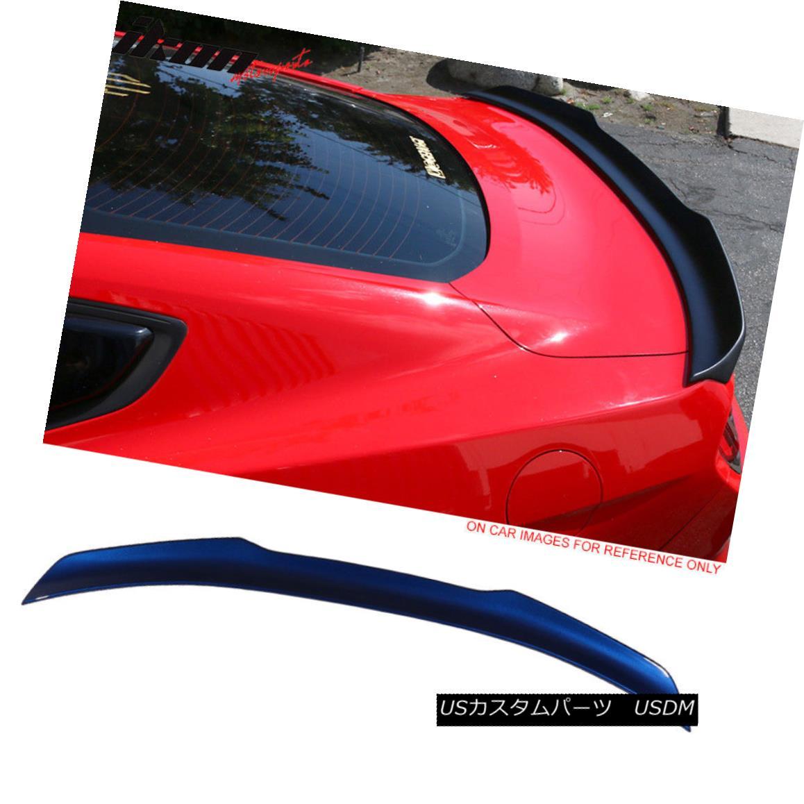 エアロパーツ Fits 15-18 Mustang High Kick Painted Trunk Spoiler #J4 Deep Impact Blue Metallic フィット15-18ムスタングハイキック塗装トランクスポイラー#J4ディープインパクトブルーメタリック