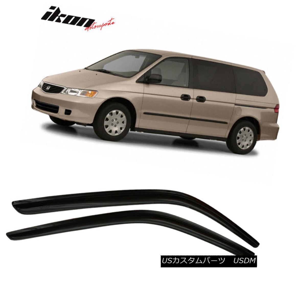 エアロパーツ Fits 99-04 Honda Odyssey Acrylic Window Visors 2Pc Set フィット99 - 4ホンダオデッセイアクリル窓のバイザー2PCセット