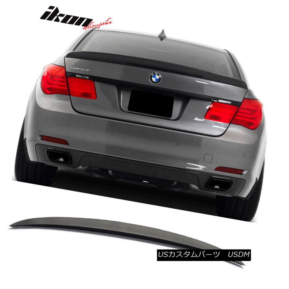 エアロパーツ Fits 09-15 BMW F01 7 Series AC-S Style Painted Matte Black Trunk Spoiler Wing フィット09-15 BMW F01 7シリーズAC - Sスタイル塗装マットブラックトランクスポイラーウィング