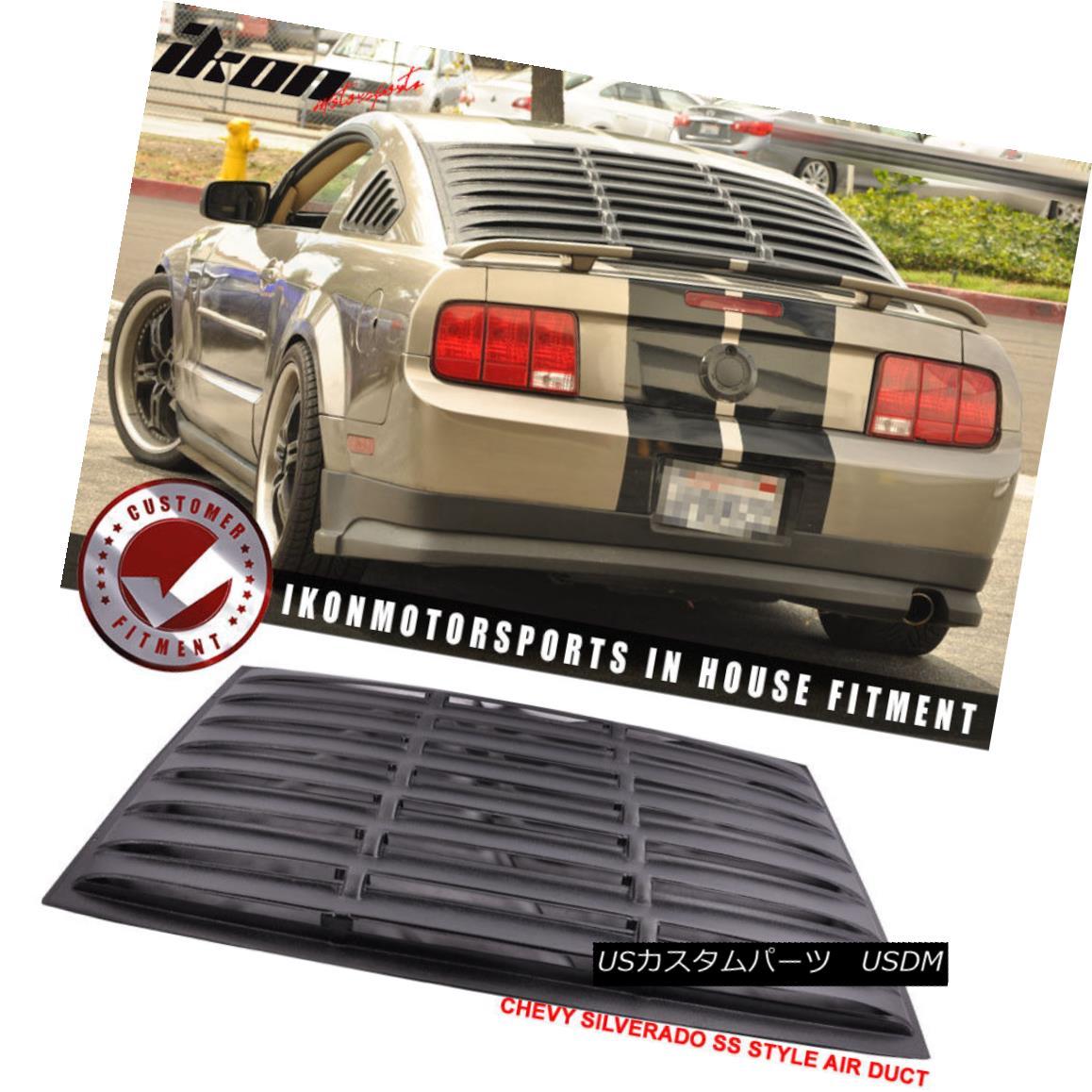 エアロパーツ Fit For 05-14 Ford Mustang GT V6 V8 Window Louver Rear Cover Matte Black ABS フィットフォー05 - 14フォードマスタングGT V6 V8ウィンドウルーバーリアカバーマットブラックABS