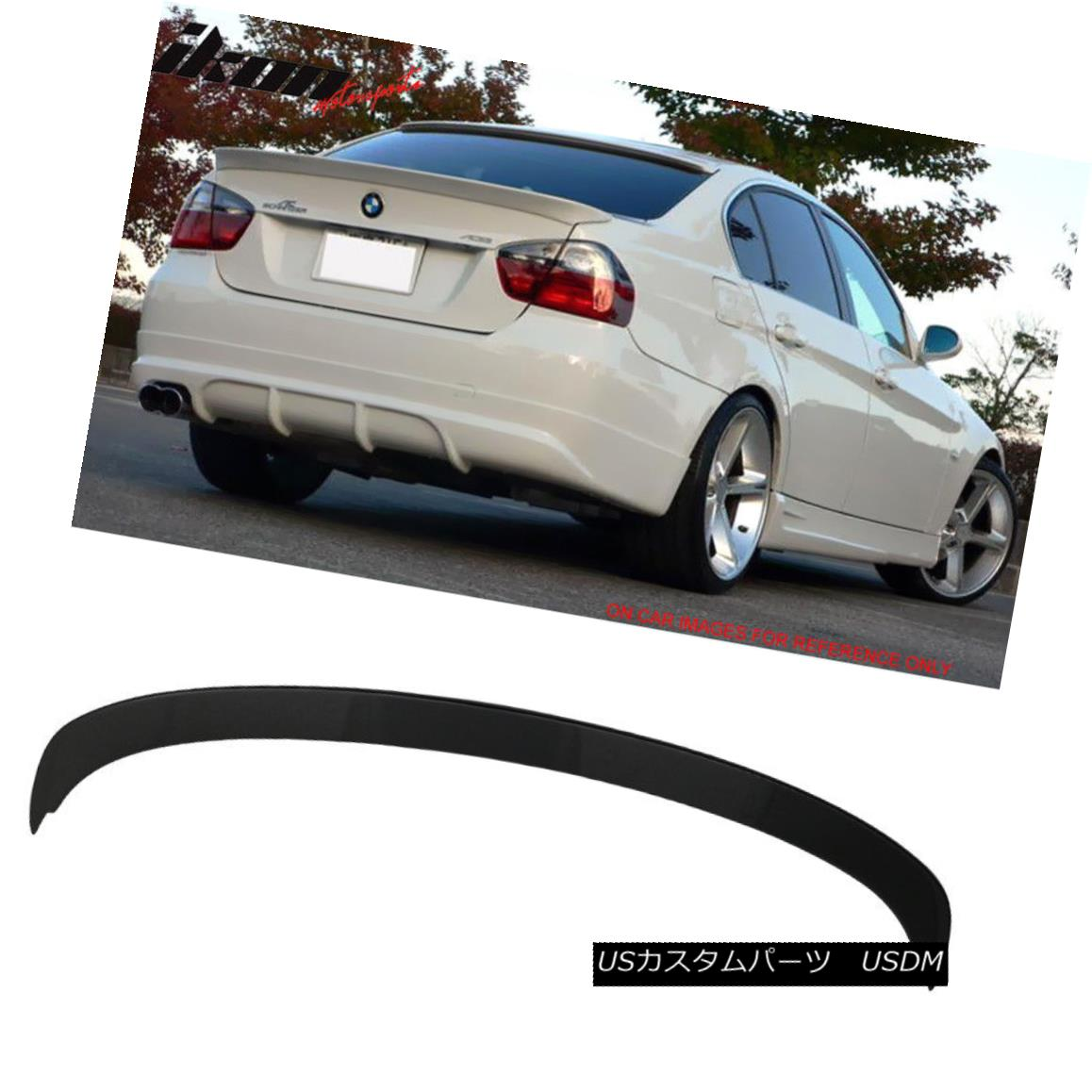 エアロパーツ 06-11 BMW 3-Series E90 Sedan 4Dr AC Style Trunk Spoiler Painted #668 Jet Black 06-11 BMW 3シリーズE90セダン4Dr ACスタイルトランク・スポイラー・ペイント#668ジェット・ブラック