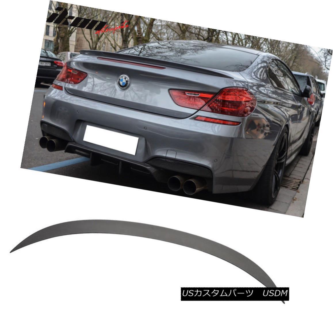 エアロパーツ Fits 12-17 BMW 6 Series F13 M6 Style Unpainted ABS Trunk Spoiler Wing フィット12-17 BMW 6シリーズF13 M6スタイル無塗装ABSトランク・スポイラー・ウィング