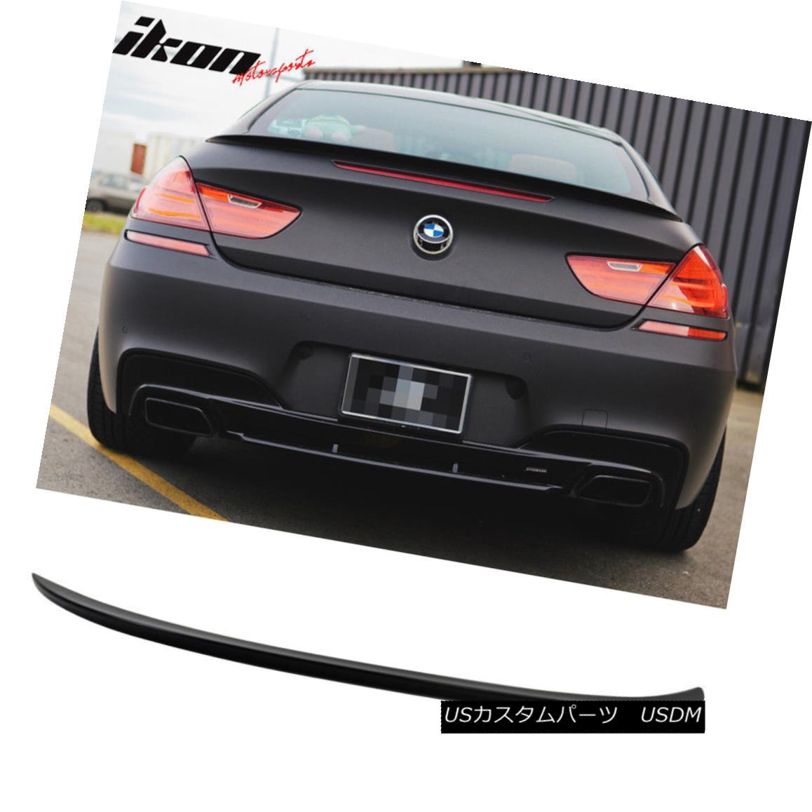 エアロパーツ Fits 12-17 BMW 6 Series F13 M6 Trunk Spoiler Painted Carbon Black Metallic #416 フィット12-17 BMW 6シリーズF13 M6トランクスポイラーペイントカーボンブラックメタリック#416