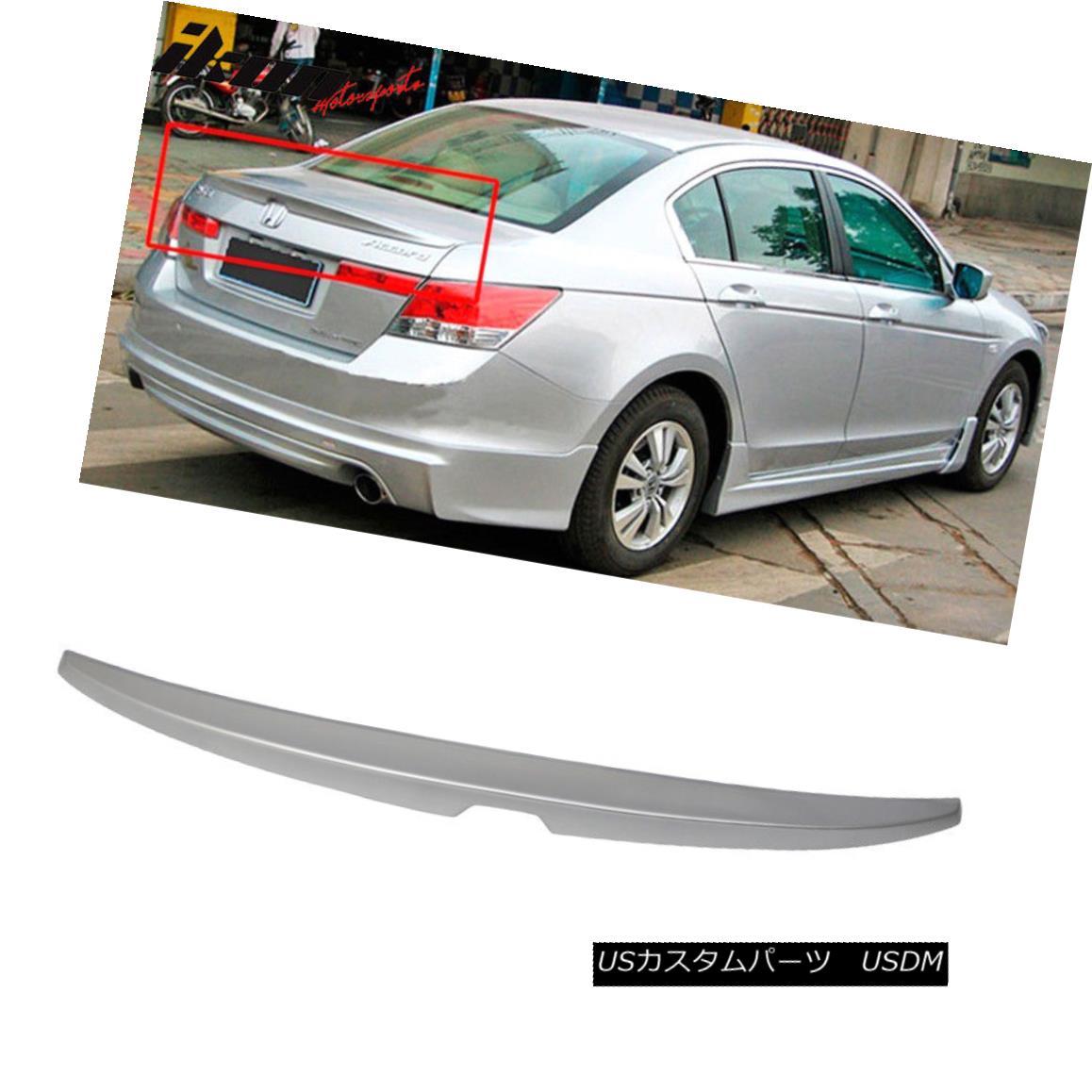 エアロパーツ Fits 08-12 Accord OE Factory Trunk Spoiler Painted Alabaster Silver Metallic フィット08-12アコードOE工場トランクスポイラー塗装アラバスターシルバーメタリック