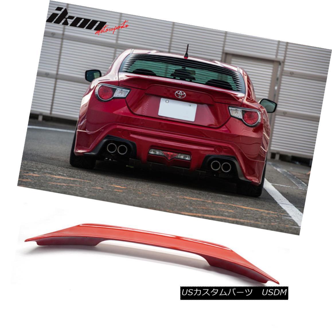 エアロパーツ Fit For 13-15 Scion FRS Subaru BRZ TR Trunk Spoiler Lightning Red Firestorm #C7P 13-15サイオンFRSスバル用フィットBRZ TRトランク・スポイラーライトニング・ファイヤーストーム#C7P
