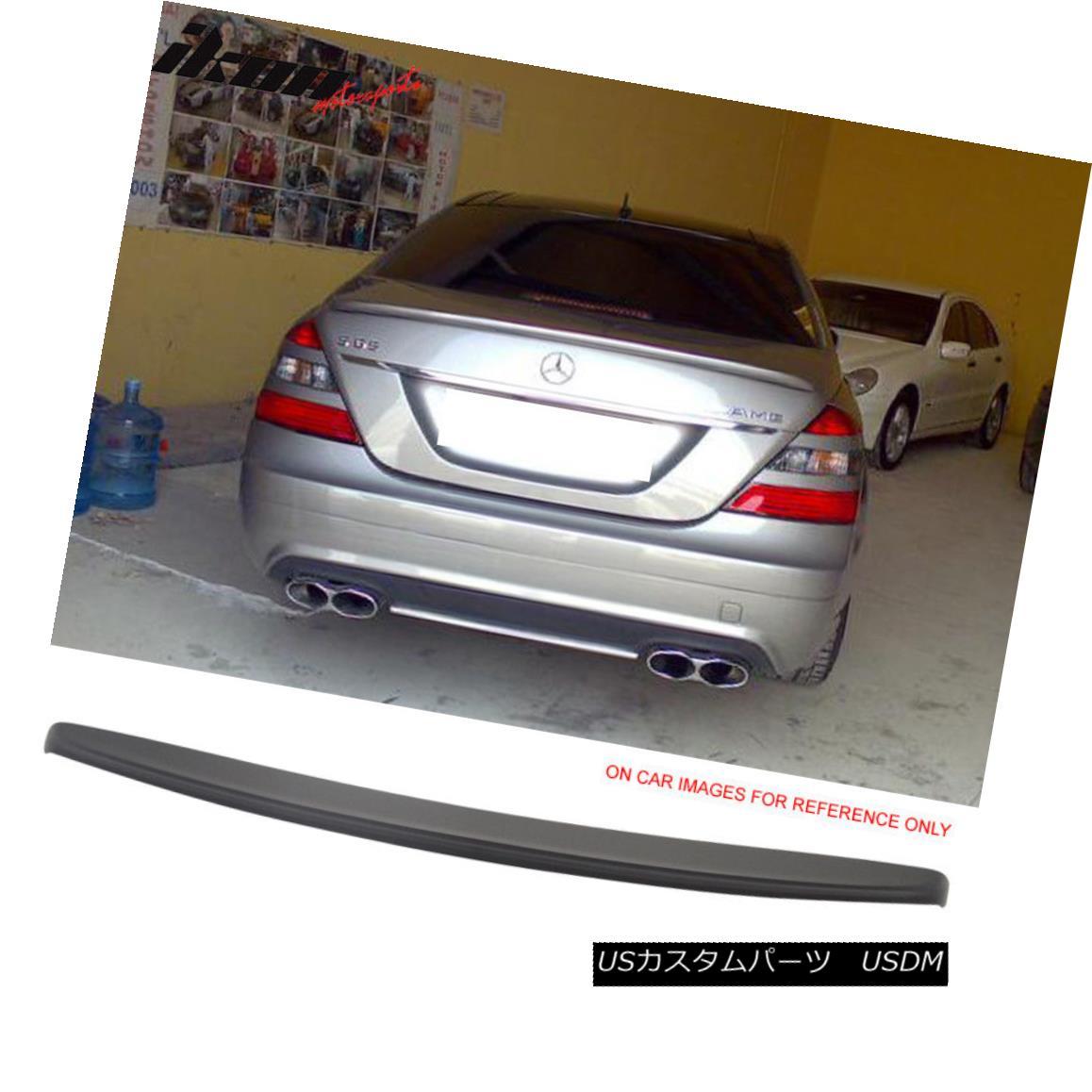 エアロパーツ Fits 07-13 Mercedes W221 Sedan S-Class Painted Matte Black Trunk Spoiler - ABS フィット07-13メルセデスW221セダンSクラス塗装マットブラックトランクスポイラー - ABS