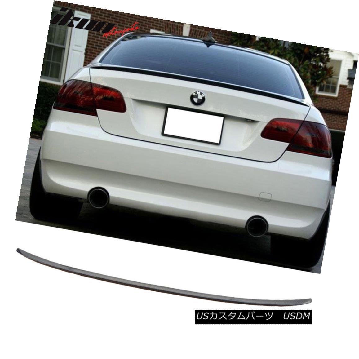 エアロパーツ Fits 07-12 BMW E92 3 Series Coupe M3 Style Trunk Spoiler Carbon Fiber (CF) フィット07-12 BMW E92 3シリーズクーペM3スタイルトランクスポイラー炭素繊維(CF)