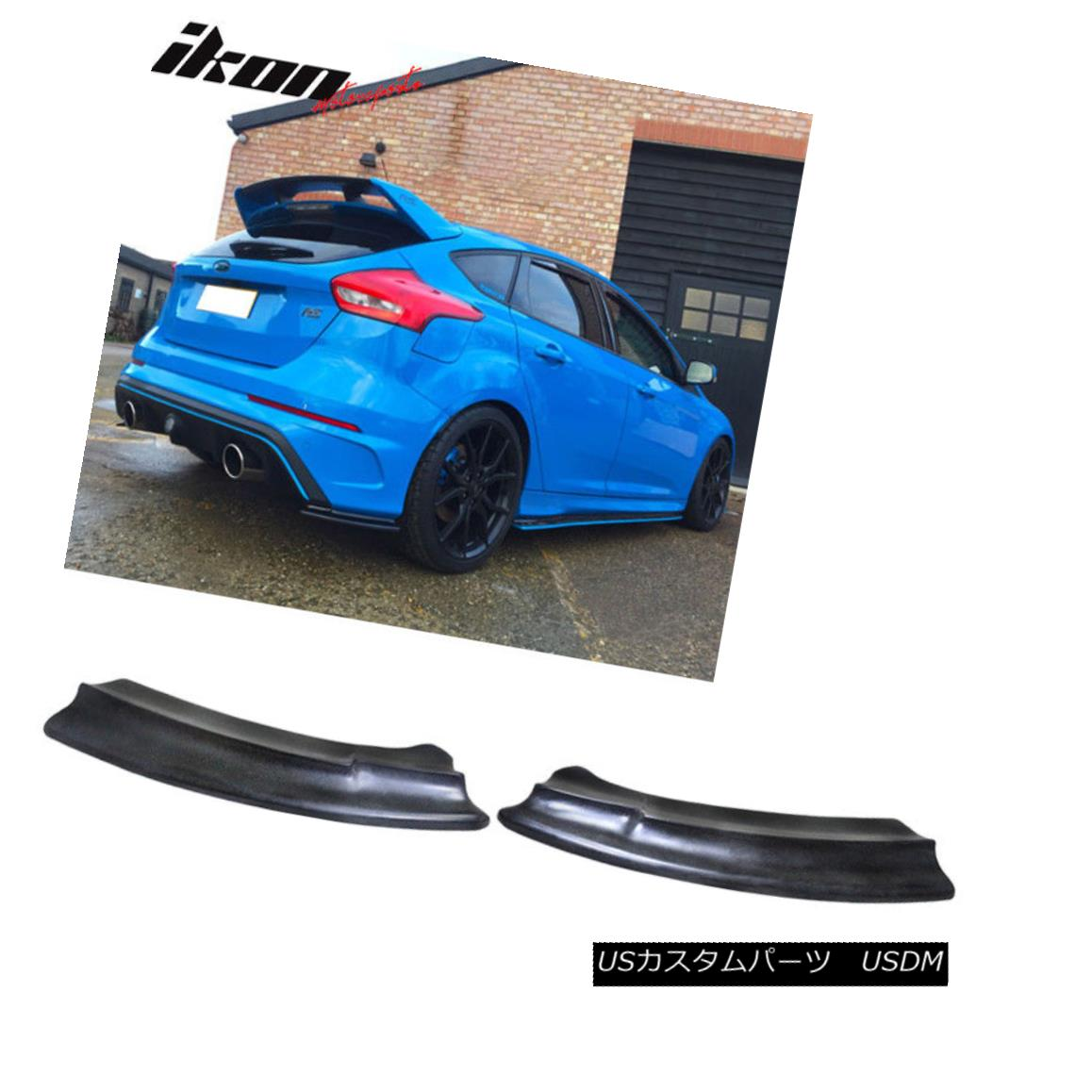 エアロパーツ Fits 16-17 Ford Focus RS Trim Rear Aprons Valences Lip PU Pair Left Right フィット16-17フォードフォーカスRSトリムリアエプロンValences Lip PU Pair Left Right