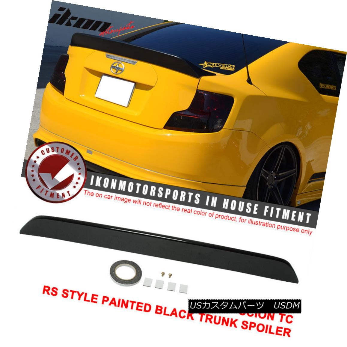 エアロパーツ 11-15 Scion TC RS Style Painted # 202 Black Trunk Spoiler - ABS サイレントTC RSスタイルの塗装#202ブラックトランクスポイラー - ABS