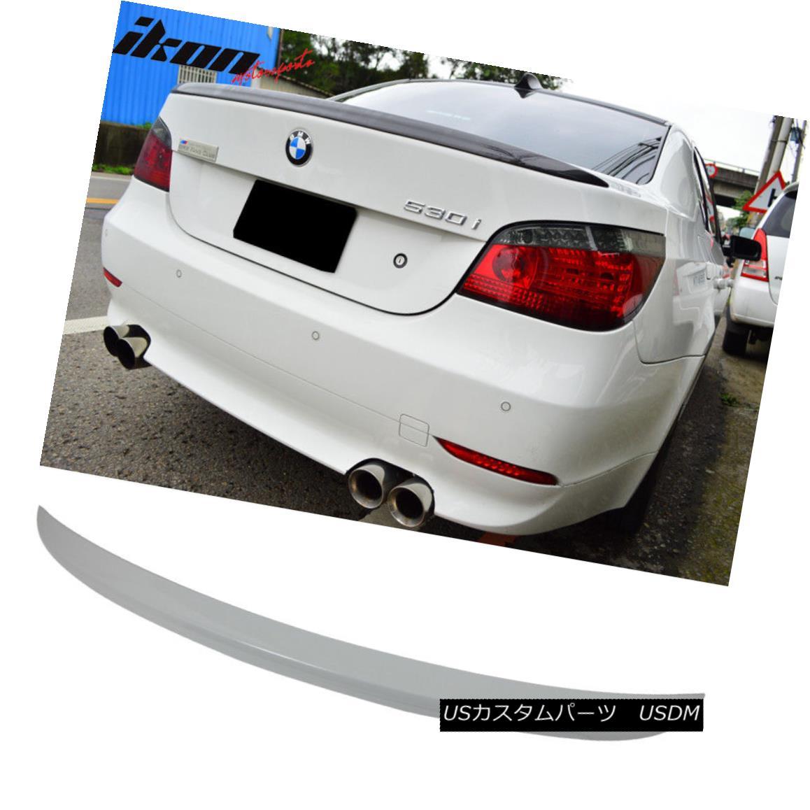 エアロパーツ Fits 04-10 5 Series E60 Sedan M5 Trunk Spoiler Painted Alpine White III #300 フィット04-10 5シリーズE60セダンM5トランク・スポイラー・ペイントアルパイン・ホワイトIII#300