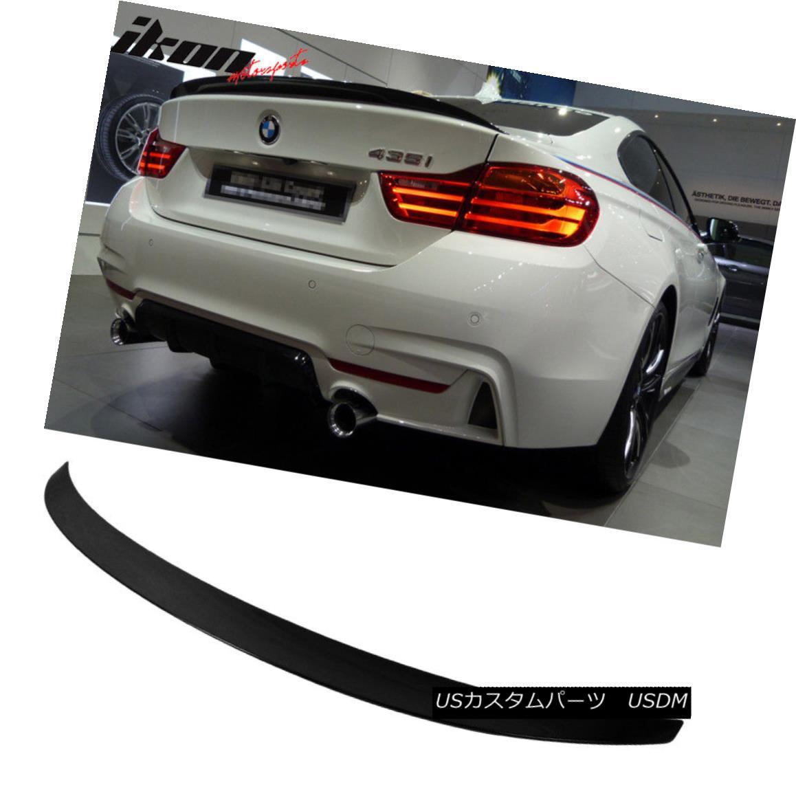 エアロパーツ Fits 14-17 BMW 3 Series F32 Performance Trunk Spoiler Painted Jet Black #668 フィット14-17 BMW 3シリーズF32パフォーマンストランクスポイラーペイントジェットブラック#668