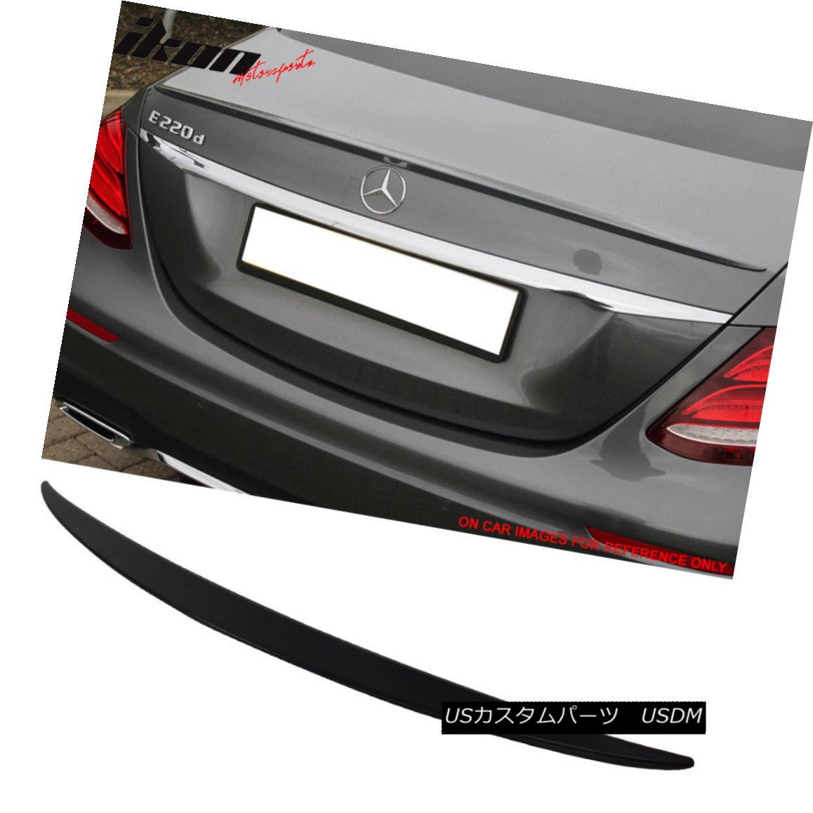 エアロパーツ 17-18 Benz E Class W213 Sedan OE Trunk Spoiler Painted #197 Obsidian Black 17-18ベンツEクラスW213セダンOEトランク・スポイラー・ペイント#197黒曜石