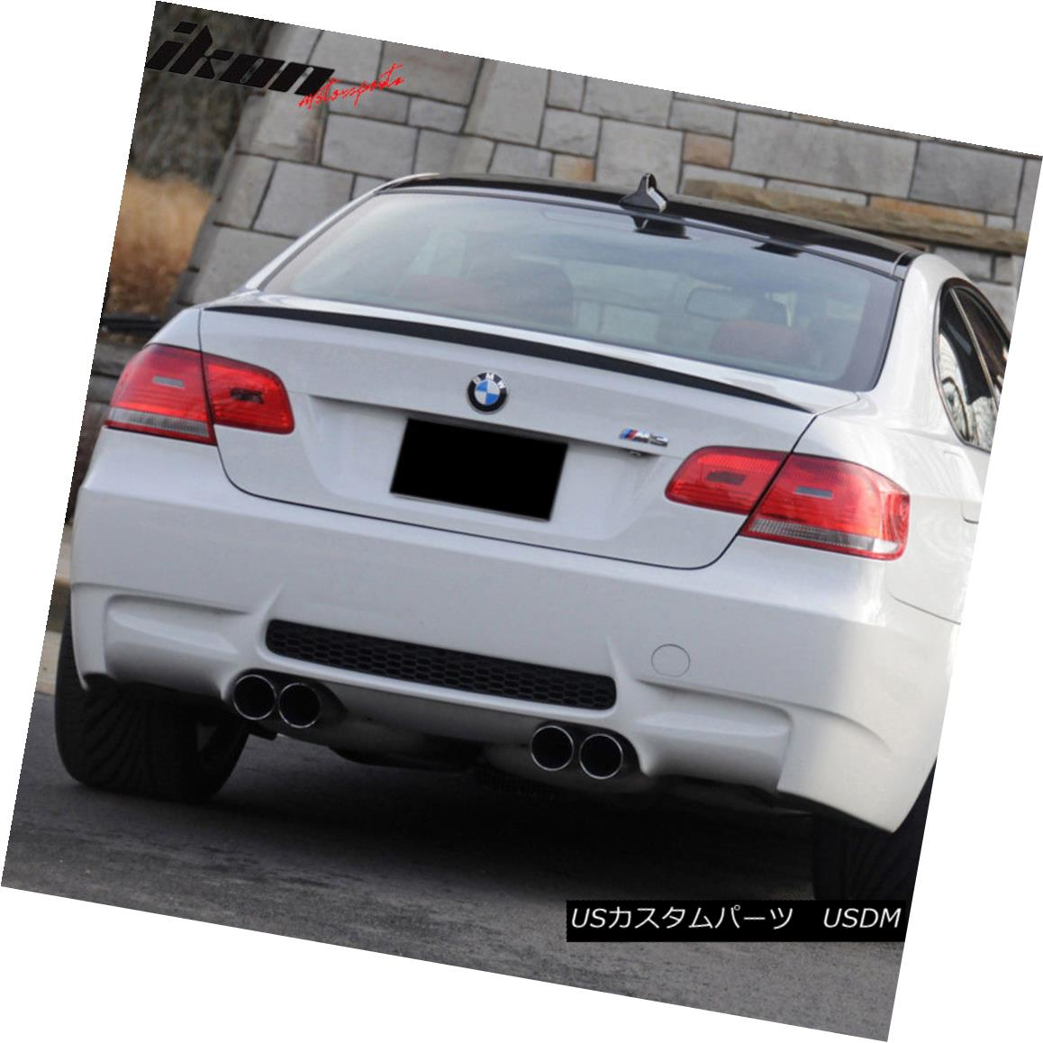 Fit 07-13 BMW E92 Coupe 3-Series Rear Trunk Spoiler Painted Black Sapphire #475