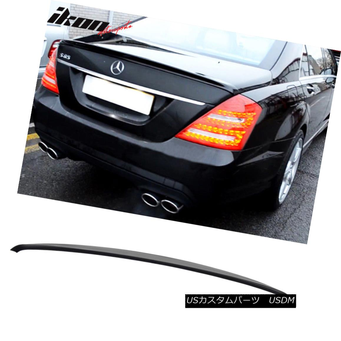 エアロパーツ Fits 07-13 Benz S-Class W221 Sedan AMG Style Unpainted Trunk Spoiler - ABS フィット07-13ベンツSクラスW221セダンAMGスタイル未塗装トランクスポイラー - ABS