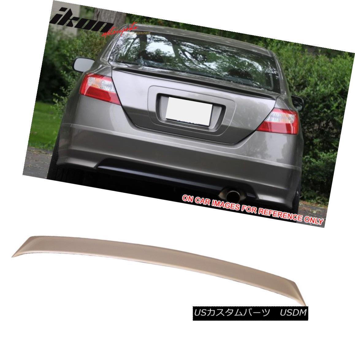 エアロパーツ Fits 06-11 Civic Sedan Trunk Spoiler Painted #NH700M Alabaster Silver Metallic フィット06-11シビックセダントランクスポイラー塗装#NH700Mアラバスターシルバーメタリック