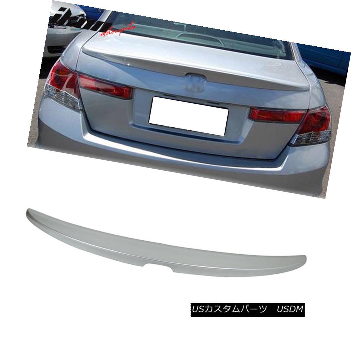エアロパーツ Fits 08-12 Honda Accord Sedan Trunk Spoiler Painted #NH700M Alabaster Silver フィット08-12ホンダアコードセダントランクスポイラー塗装#NH700Mアラバスターシルバー