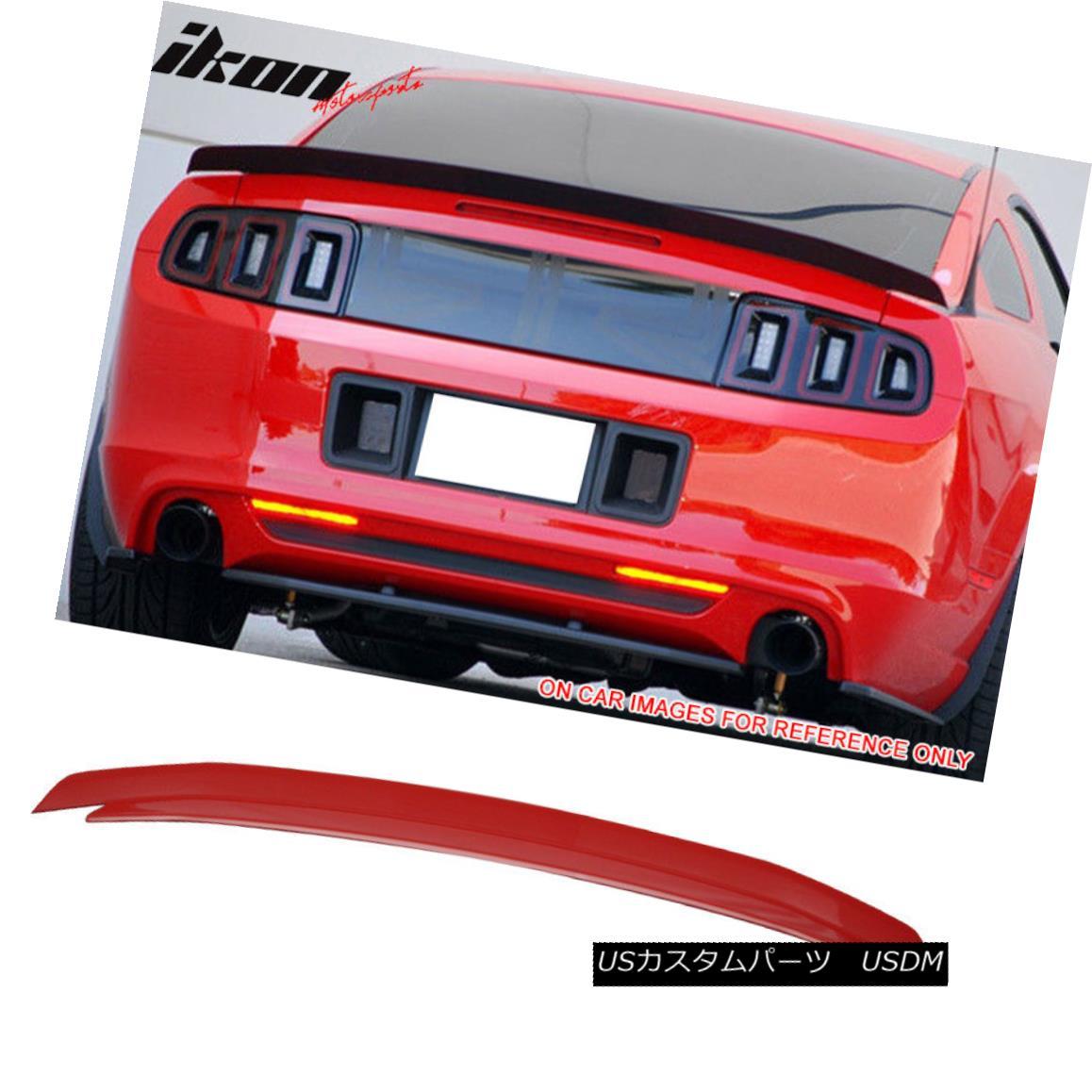 エアロパーツ For 10-14 Ford Mustang Trunk Spoiler Painted Torch Red # D3 10-14フォードマスタングトランク・スポイラーのために塗装トーチレッド#D3