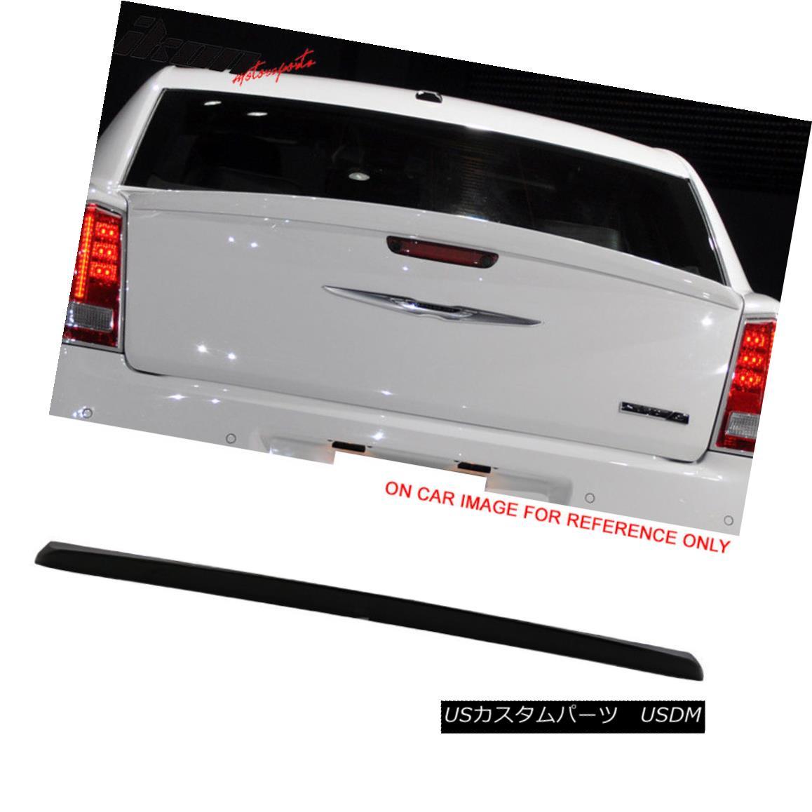 エアロパーツ Fits 11-18 Chrysler 300 300C Trunk Spoiler Wing Painted # PX8 Black フィット11-18クライスラー300 300Cトランク・スポイラー・ウィング・ペイント#PX8ブラック