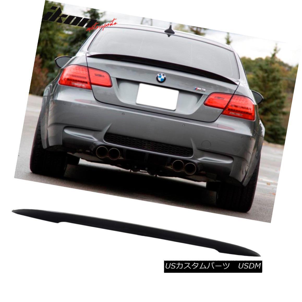 エアロパーツ Fits 07-13 BMW E92 Coupe Performance High Kick Unpainted ABS Trunk Spoiler Wing 07-13 BMW E92クーペパフォーマンスハイキック無塗装ABSトランク・スポイラー・ウィング