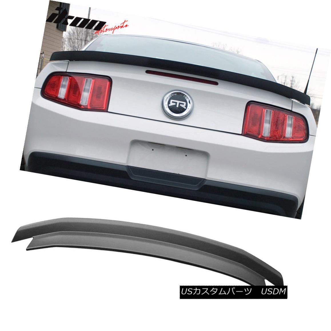 エアロパーツ 10-14 Ford Mustang Trunk Spoiler OEM Painted Matte Black 10-14フォードマスタングトランクスポイラーOEM塗装マットブラック