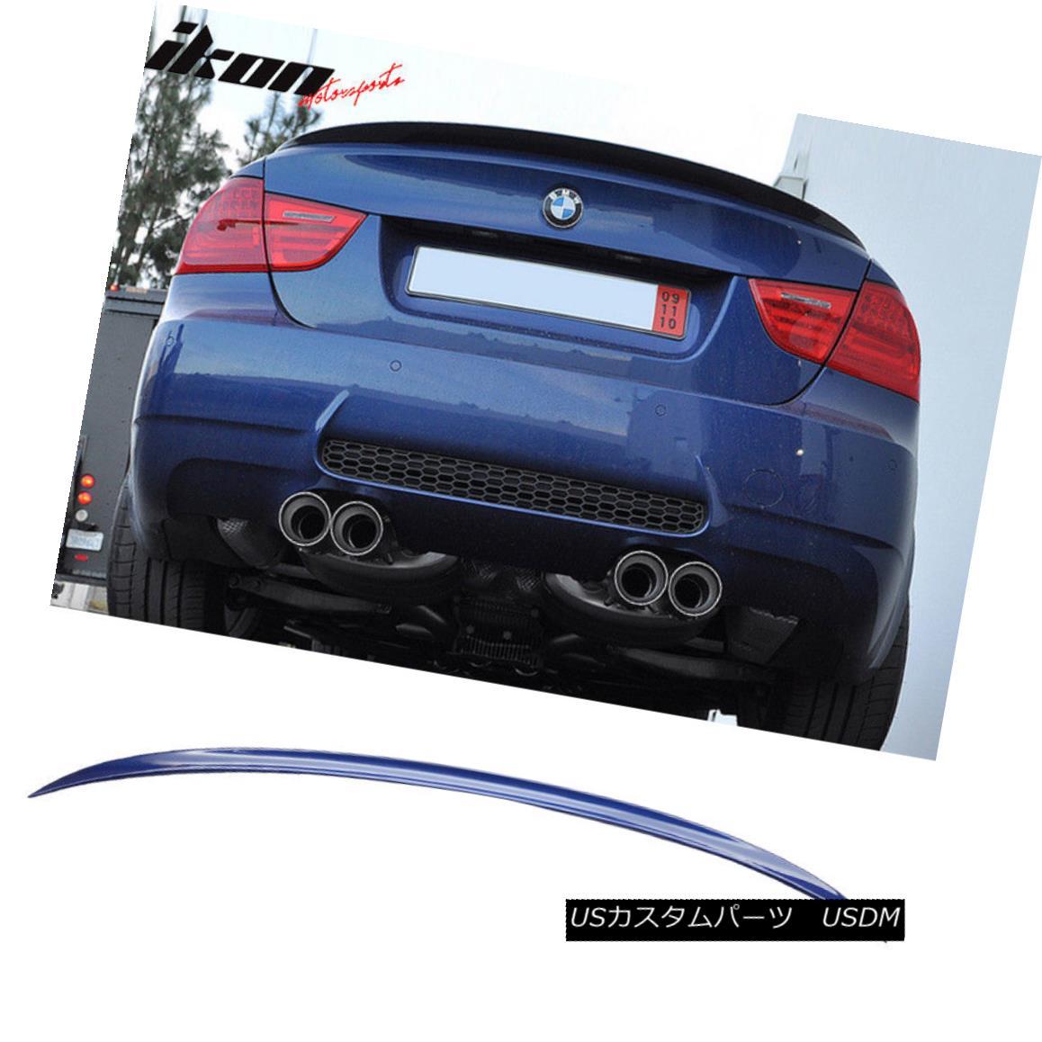 エアロパーツ Fits 06-11 3 Series E90 Sedan M3 Trunk Spoiler Painted #381 Lemans Blue Metallic フィット06-11 3シリーズE90セダンM3トランク・スポイラー・ペイント#381レマン・ブルー・メタリック