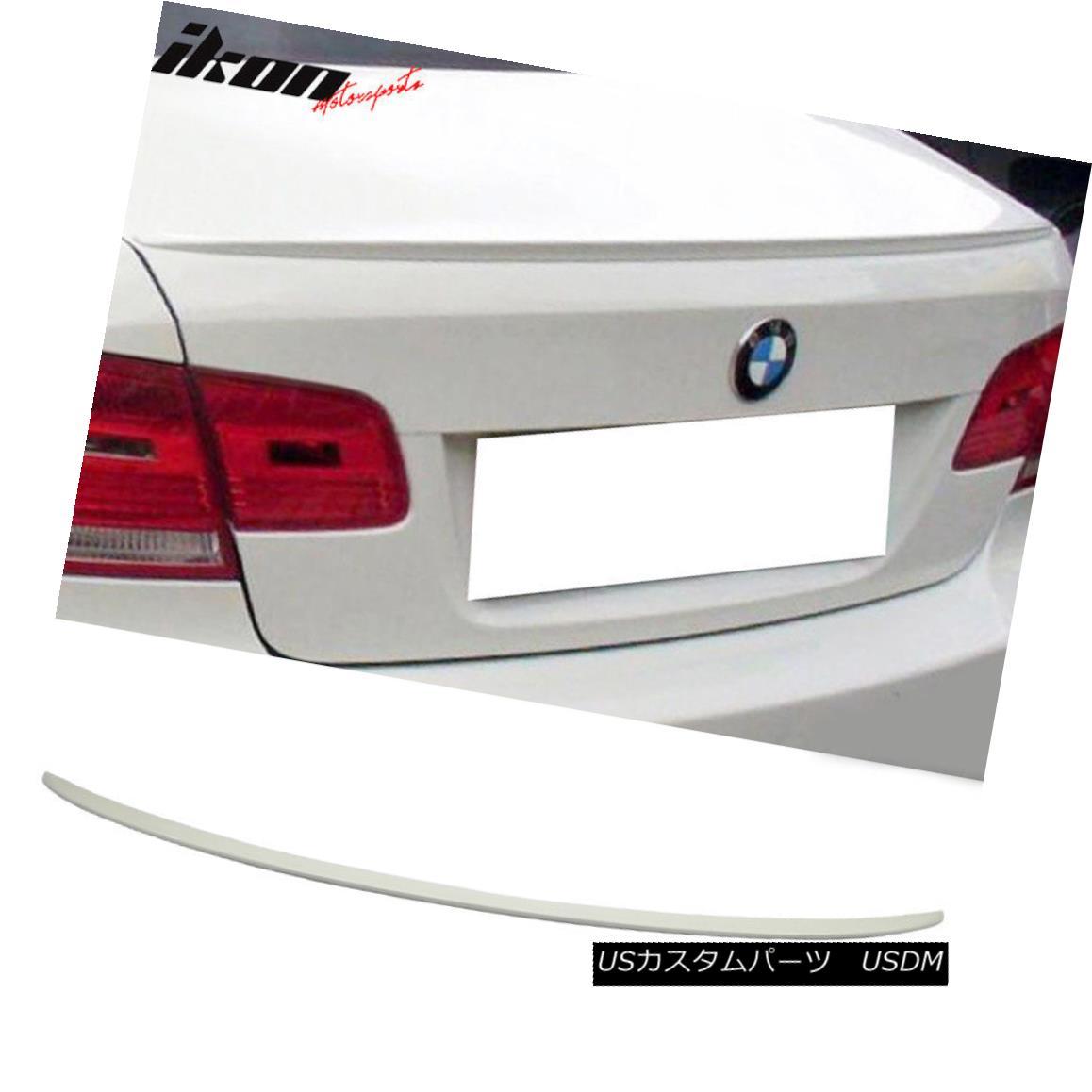 エアロパーツ Fits 07-13 BMW 3 Series E92 Coupe M3 Trunk Spoiler Painted #300 Alpine White III フィット07?13 BMW 3シリーズE92クーペM3トランク・スポイラー#300アルパイン・ホワイトIII