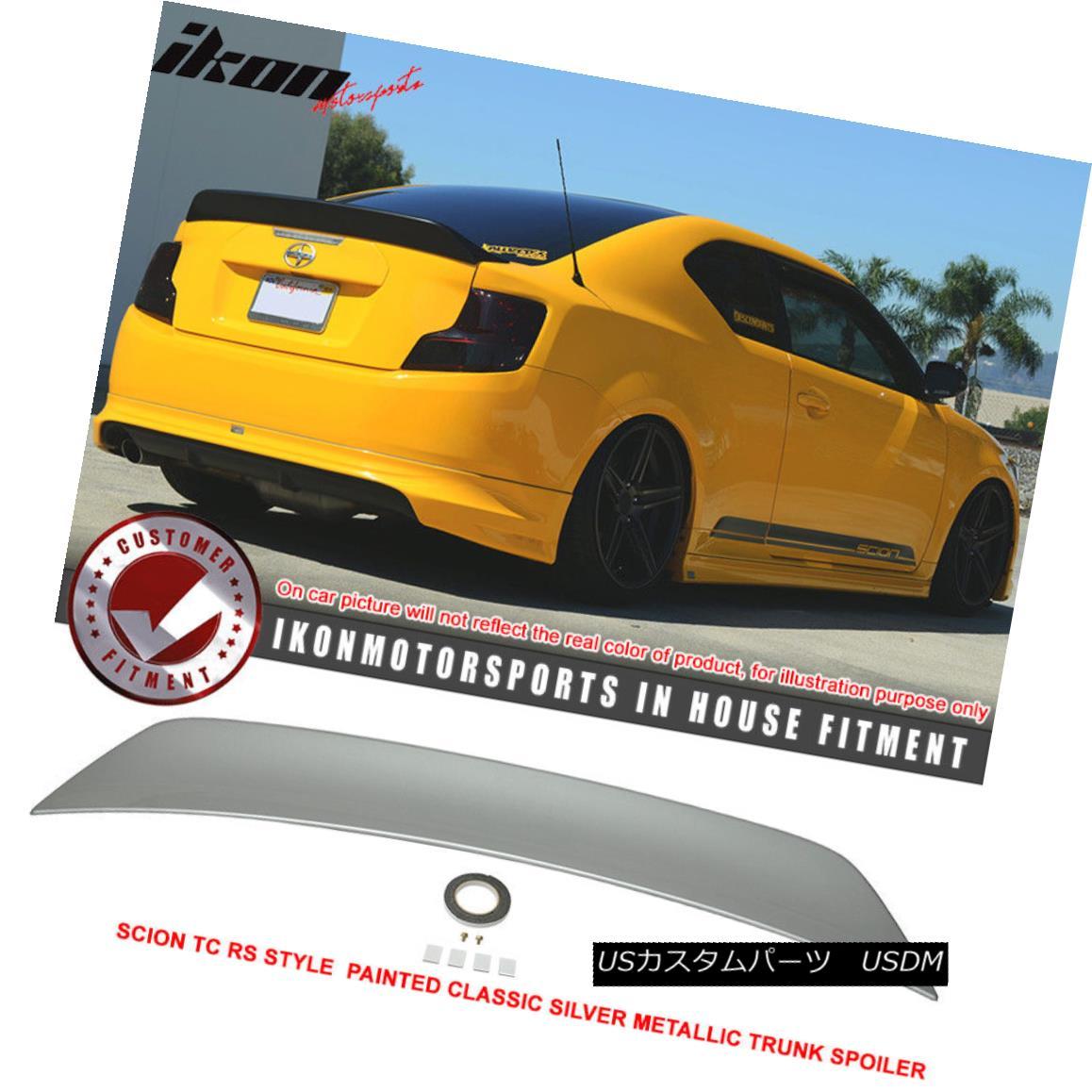 エアロパーツ 11-15 TC RS Style Painted # 1F7 Classic Silver Metallic Trunk Spoiler - ABS 11-15 TC RSスタイル塗装#1F7クラシックシルバーメタリックトランクスポイラー - ABS