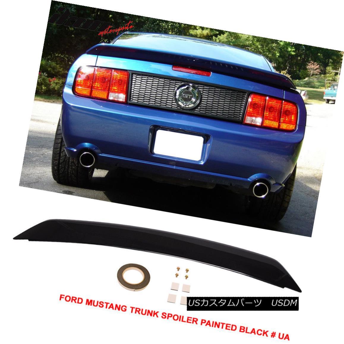 エアロパーツ Fit For 05-09 Ford Mustang OE Trunk Spoiler Painted Black # UA - ABS 05-09 Ford Mustang OEトランク・スポイラー・ペイント・ブラック#UA - ABS