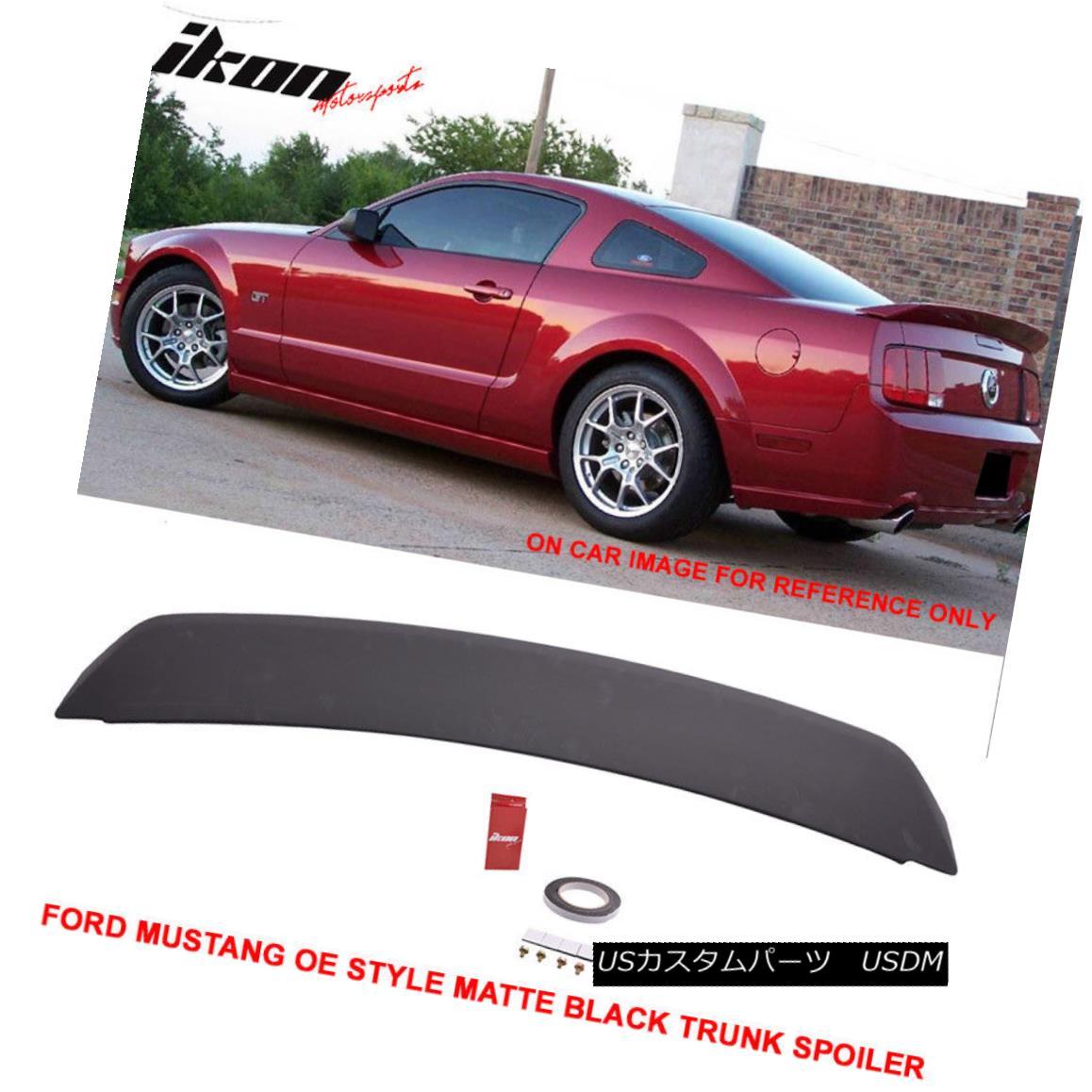 エアロパーツ Fit For 05-09 Ford Mustang OE Style Painted Matte Black Trunk Spoiler - ABS 05-09フォードマスタングOEスタイル塗装マットブラックトレンクスポイラー - ABS