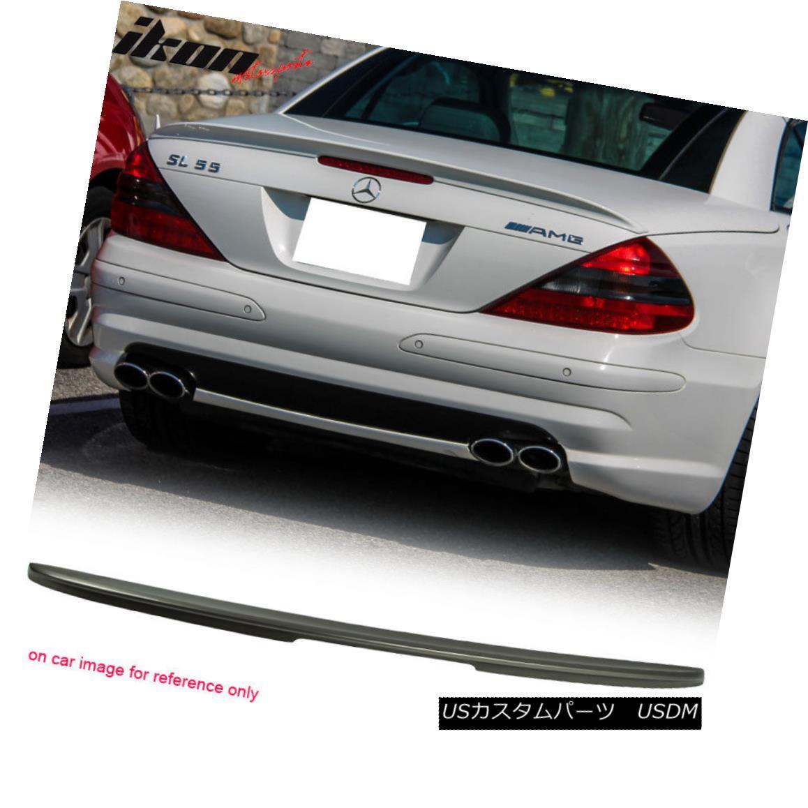 エアロパーツ Fits 03-11 Benz SL-Class R230 AMG Painted ABS Trunk Spoiler #723 Pewter Metallic フィット03-11ベンツSLクラスR230 AMG塗装ABSトランクスポイラー#723ピューターメタリック