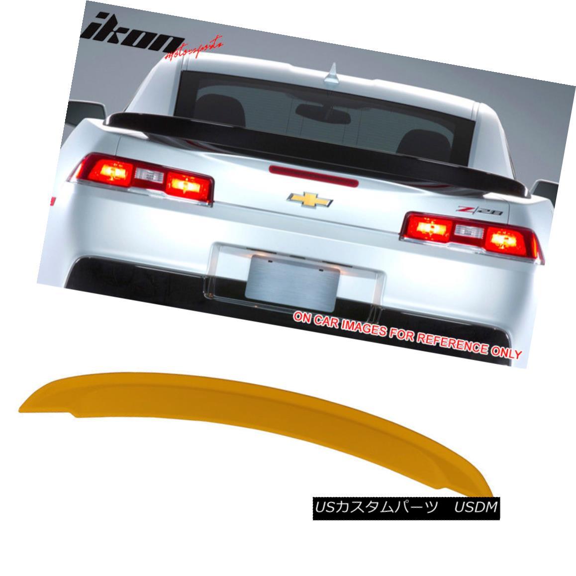 エアロパーツ Fits 14-15 Chevy Camaro OE Factory Trunk Spoiler Painted WA9414 Yellow フィット14-15シボレーカマロOE工場トランクスポイラーは、WA9414イエロー
