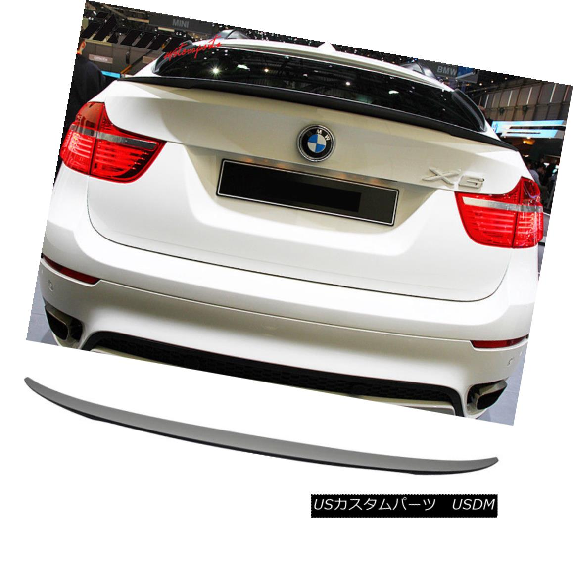 エアロパーツ Fits 08-13 BMW E71 X6 Performance Style Painted Matte Black Trunk Spoiler - ABS フィット08-13 BMW E71 X6パフォーマンススタイル塗装マットブラックトランクスポイラー - ABS