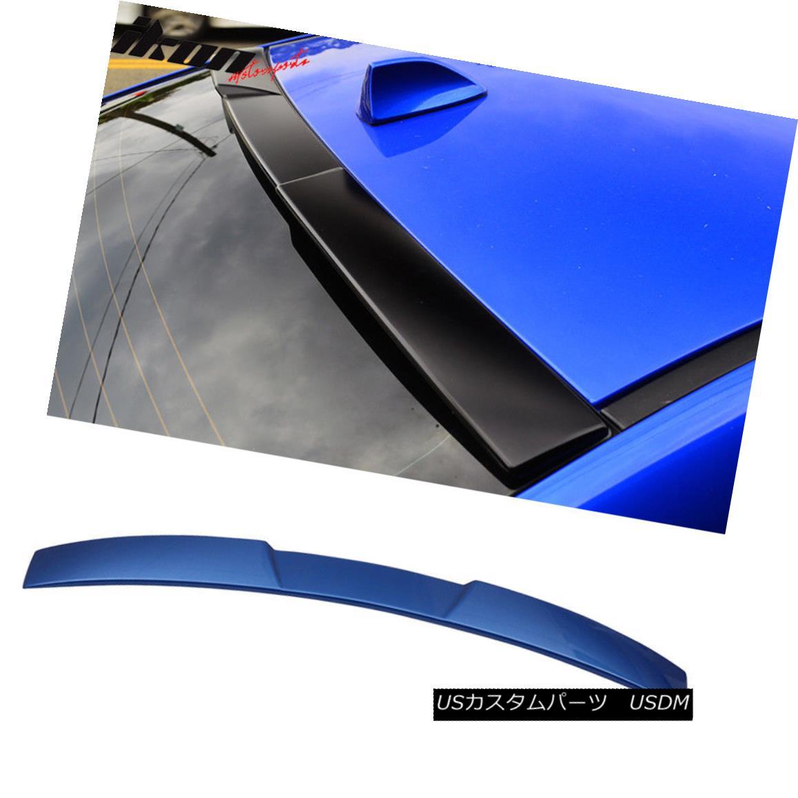 エアロパーツ For 15-18 Subaru Impreza WRX STI V Style Roof Spoiler Painted #K7X Wr Blue Pearl 15-18スバルインプレッサWRX STI Vスタイルルーフスポイラー塗装#K7X Wrブルーパール