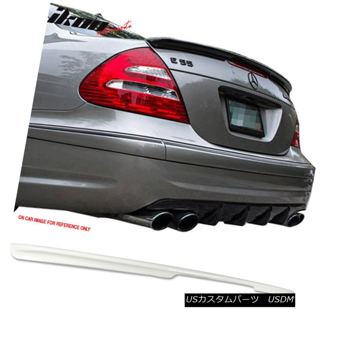 エアロパーツ Fits 03-09 E-Class W211 AMG Style ABS Trunk Spoiler Painted Alabaster White #960 フィット03-09 EクラスW211 AMGスタイルABSトランクスポイラー塗装アラバスターホワイト#960