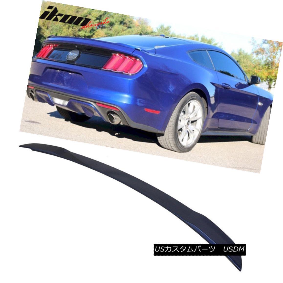 エアロパーツ Fit For 15-18 Ford Mustang GT Trunk Spoiler Painted Deep Impact Blue # J4 フィット15-18フォードマスタングGTトランクスポイラーディープインパクトブルー#J4を塗った